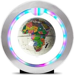 Geografiska glober, levitation flytande världskarta glob O-formad bas, roterande planet jordglob boll anti-gravitation med...