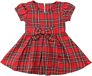 red tartan dress baby
