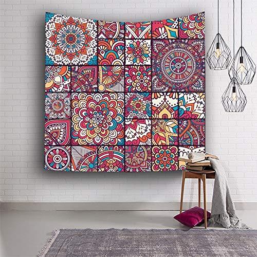 WERT Pintura Abstracta Tapiz psicodélico Colorido Tapiz Colgante de Pared características étnicas religiosas Dormitorio Arte de la Pared Tapiz A2 130x150cm
