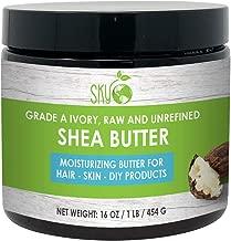 Shea Butter Unrefined, Pure, Raw Ivory Shea Butter 16oz - Skin Nourishing, Moisturizing & Healing, For Dry Skin, Dusting Powders -For Skin Care, Hair Care & DIY Recipes