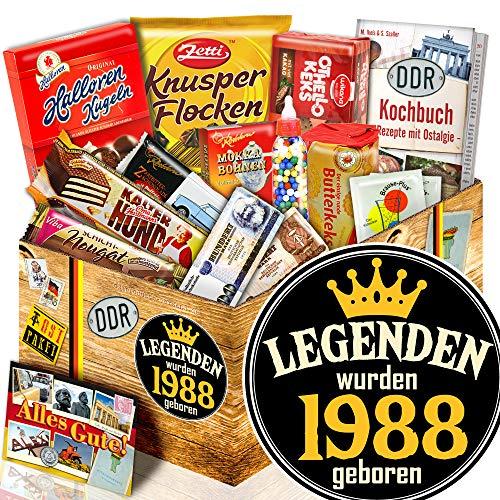 Legenden 1988 - Süßigkeiten Box DDR - Geschenktipps für Ihn