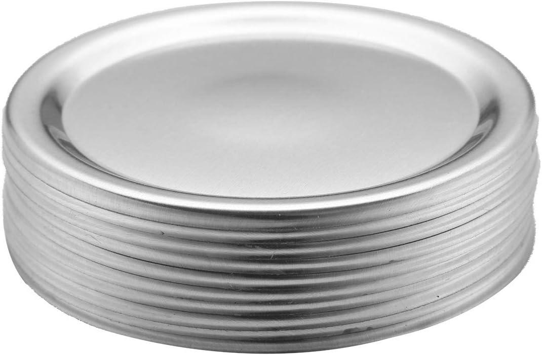 BABYFI 48Pcs Mason Jar Canning Split-Type Max 68% OFF Max 69% OFF Li Lids Metal