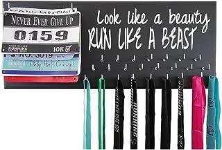 RunningontheWall - Running Medal Hanger Disney, Disney Medal Display, Medal Holders Hangers Runners, Disney Medal Rack, Disney Race Medal Hanger Look Like A Beauty Run Like A Beast