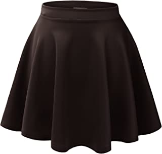 9a604731e85 Made By Johnny Women s Basic Versatile Stretchy Flared Casual Mini Skater  Skirt XS-3XL Plus