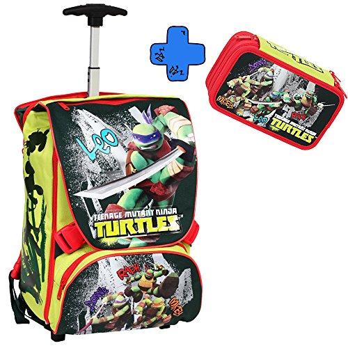 Giochi Preziosi - Turtles Zaino Trolley Deluxe con Super Gadget + Giochi Preziosi - Turtles Astuccio Triplo
