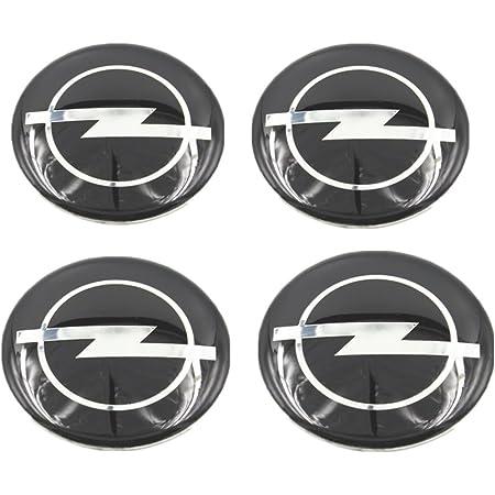 Opel 4 Stück 60mm Aufkleber Emblem Für Felgen Nabendeckel Radkappen Auto