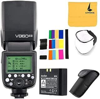 Godox V860II-S High-Speed Sync GN60 1/8000 2.4G TTL Li-on Battery Camera Flash Speedlite Compatible for Sony HVL-F60M, HVL-F43M, HVL-F32M,A7 A7R A7S A7II A7RII A58 A99 A6000 A6300 Camera