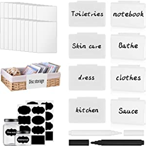 8PCS Basket Bin Labels Clip On, Label Holders with Stickers Cards, Metal Removable Organization Storage Bins Clips for Spice Food Pantry Talented Kitchen Spice Jar Bottle Personalized Labels(White)