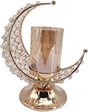 Generic Ramadan Candlestick Moon Shaped Candle Stand Holder for Eid Mubarak Candlestand Home Decoration