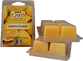 3 Pack of Highly Scented Coo Candles Soy Wickless Candle Bar Wax Melts - Lemon Pucker