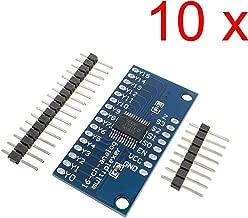 DAOKI 10pcs CD74HC4067 16-Channel Analog Digital Multiplexer Breakout Board Module for Arduino 2V-6V Microcontroller 16 Device RX Lines