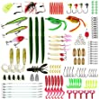 Fishing Lures Set, Baits Tackle Including Crank-baits Spinner-baits Plastic Worms Jigs Top-Water Lures Tackle Box and More Fishing Gear Lures Kit Set 137Pcs Fishing Lure
