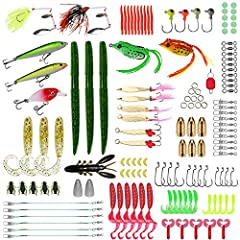 🐟 Best Gift Choice - It's the best gift to send father, son, husband, fiancé, boyfriend. SZJP fishing tackle set collects nearly all accessories including fishing lures, hooks, Jig Head, Weights Sinker, Line Stopper, Barrel Swivel, Free Tackle Box, a...