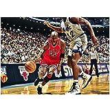 HYLLVC 1000 Piezas de Rompecabezas para Adultos Basketball Star Jordan Puzzle de 1000 Piezas para Adultos y niños Celebrity Juego Familiar cooperativo desafiante y Divertido (52x38cm)