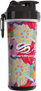 Smartshake Double Wall, 25 oz Shaker Cup, Flower Power (Packaging May Vary)