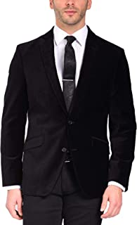 Craft & Soul Men's Slim Fit Stretch Velvet Blazer Jacket Sport Coat