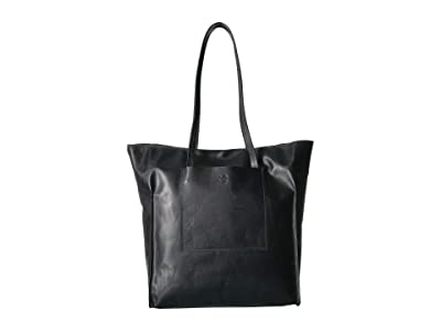 Scully Cintia Leather Tote Bag (Black) Handbags