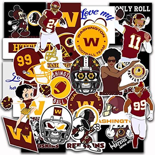 24 pcs Set of Wаshington Vinyl Football Stickers Pack 2-3 inches