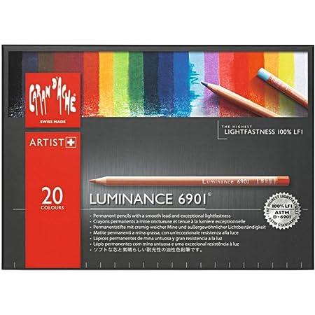 Caran d'Ache Luminance 6901 - Matite colorate permanenti, Scatola con 20 colori