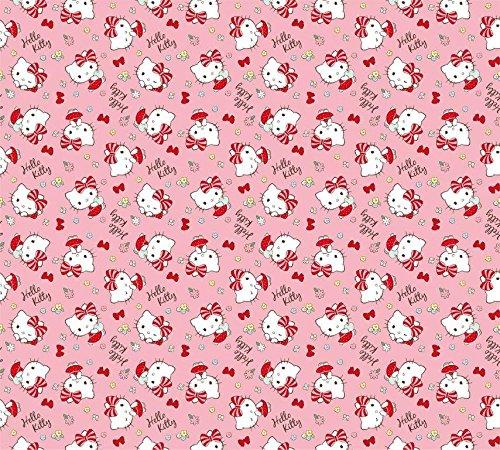 AG Design FCSXL 4351 Tenda Hello Kitty, Kinderzimmer Gardine/Vorhang, 180x160 cm, 2 (1 Teil: 90x160 cm), Stoff, Multicolor, 0,1 x 180 x 160 cm