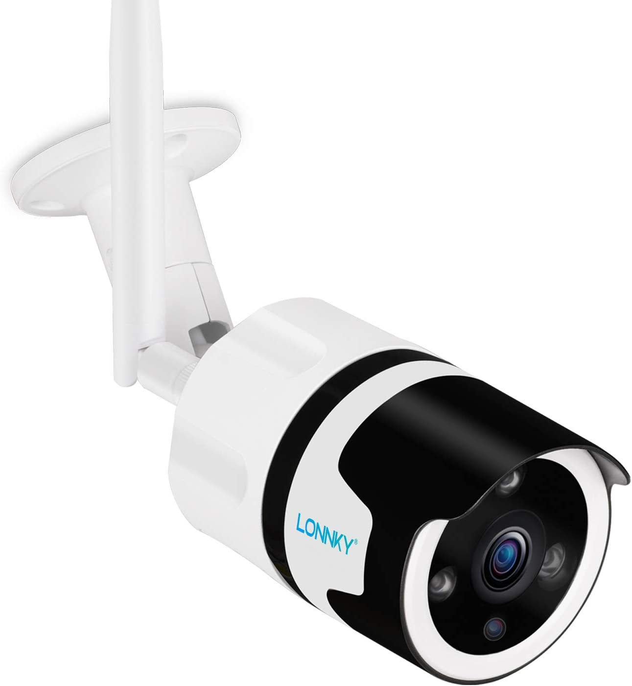 Outdoor Security Camera,LONNKY 1080P Full HD WiFi Outdoor IP Security Bullet Camera, Two-Way Audio and Wide Viewing Angle,Weatherproof and Motion Detection with Night Vision