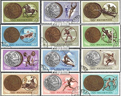Prophila Collection Ungarn 2089A-2100A (kompl.Ausg.) 1965 Olymp. Spiele `64, Tokio (Briefmarken für Sammler) Olympische Spiele