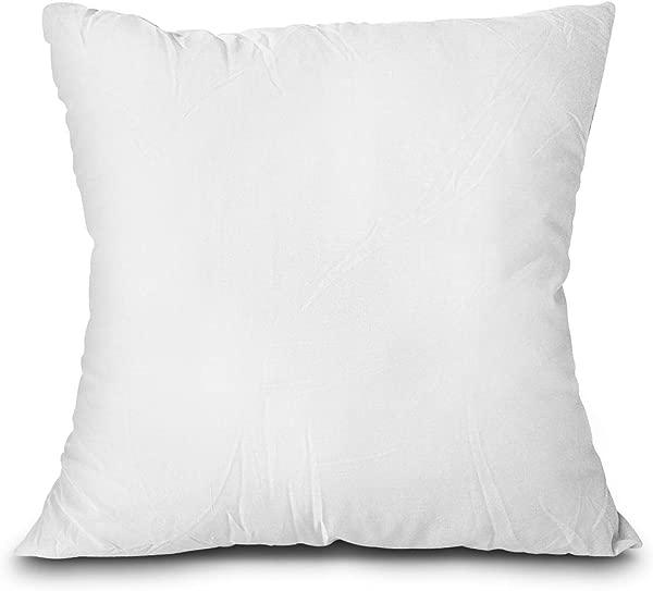 Edow 抱枕插件轻质柔软聚酯羽绒替代装饰枕头假填充器可机洗白色 24x24