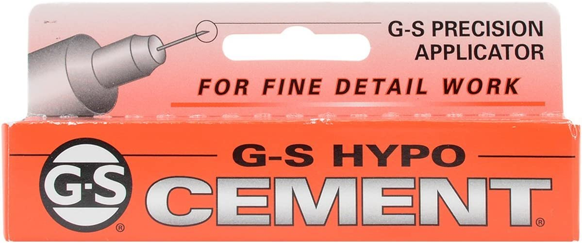 G-S Rapid rise Hypo-Tube Choice Jewelers Cement Clear oz 12 PACK 1 3