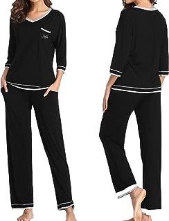 Womens Bamboo Pajamas Sets 2 Piece Loungewear Lightweight Sleepwear