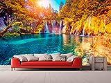 Fotomural Vinilo Pared Cascadas | Fotomural para Paredes | Mural | Vinilo Decorativo | Varias Medidas 350 x 250 cm | Decoración comedores, Salones, Habitaciones.