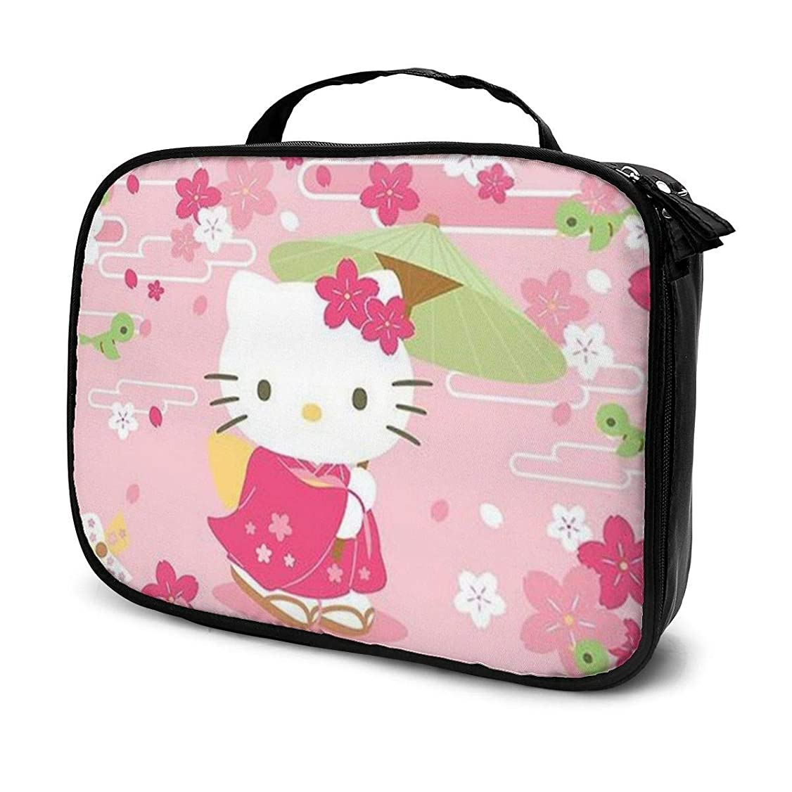 餌こしょう偽装するDaituエレガントなハローキティ 化粧品袋の女性旅行バッグ収納大容量防水アクセサリー旅行