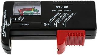 YKS バッテリーテスター 電池残量測定器 ブラック 乾電池やボタン電池の残量チェック BT-168