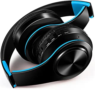 FARVOICE Bluetooth Headphones On Ear Noise Cancelling Stereo Wireless Headset Wireless Headphone Headset with Microphone for PC/Cell Phones/TV (Blue)