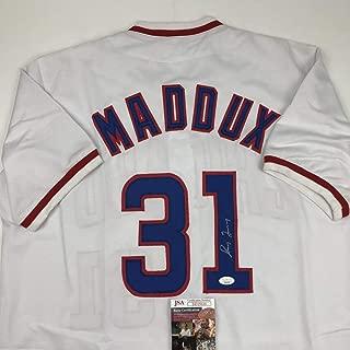 Autographed/Signed Greg Maddux Chicago White Baseball Jersey JSA COA
