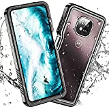 meritcase New Designed for Moto G Power 2021 6.6 Inch Waterproof Case, Built-in Screen Protector, Shockproof Full Body Heavy Duty Cover Waterproof Case [NOT Compatible with Moto G Power (2020)]
