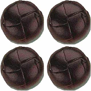 Jumbo Genuine Leather Buttons- Brown Set of 4