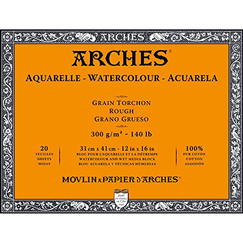 Unbekannt Arches 1795087Bloc para Acuarelas, Madera, Color Blanco, 41x 31x 1cm