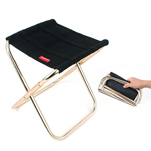 Pawaca Taburete Plegable Portátil,Sillas Plegables Camping Aleación de Aluminio Oxford Pequeña Para Camping,