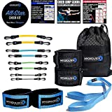 Kinetic Bands All-Star Cheer Kit  Improve Cheerleader Fitness and Performance, Flexibility Stunt Strap, Tumbling Ankle Straps, Cheerleading Workout DVD (User Weight is Less Than 110 lbs or 50 kg)