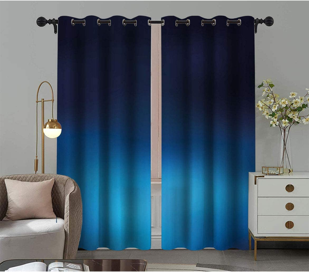 Amazing Navy supreme Blackout Drapes Ombre Sea Style Underwa Deep Ocean OFFicial shop