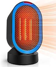 600W Portátil Calefactor Eléctrico Personal Ventilador Calefactor Eléctrico PTC Cerámica, Oscilación Automática Calefactor Aire Frio Y Caliente para Hogar Oficina