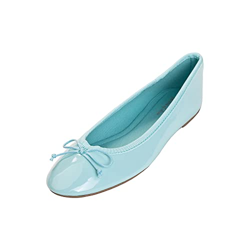 215c81e3ac1ad8 Feversole Women's Macaroon Colorful Memory Cushion Insock Patent Ballet Flat