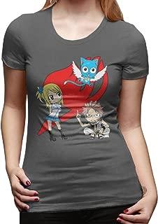 YFF Women's Fairy Tail Natsu Happy New Style T-Shirt DeepHeather