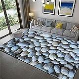 ZHOUAICHENG 3D Teppich Stein gedruckt weichen Flanell großen Teppich für Zimmer Matten im Flur rutschfeste Küche Matte große Teppiche,B,100x150cm