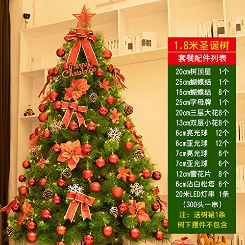 Premium Eco-Friendly Artificial Christmas Tree PVC Spruce Trees Pre-Decorated Xmas Tree Seasonal Home Decoration Metal Stand-e Diameter180cm(71inch)