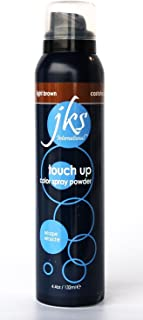 JKS Touch up spray LIGHT BROWN, Hair color Spray Powder for in between hair coloring. Temporarly Hair Color