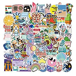 Mai Zi VSCO Stickers for Water Bottles 50 pcs Laptop Stickers Waterproof Stickers Pack Cute Aesthetics Stickers for Teens Girls (50 Pieces Purple)