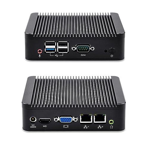 Mini PC Linux Ubuntu Computer Dual Gigabit Ethernet 2G Ram 64G mSata SSD 300M Wifi Quad