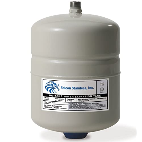 Falcon Stainless Expt 2 Thermal Potable Water Expansion Tank 2 1 Gal With Butyl Bladder