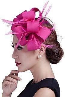 JYDIY Satin Bowknots Fascinator Hat Wedding Race Church Hair Clip Accessories
